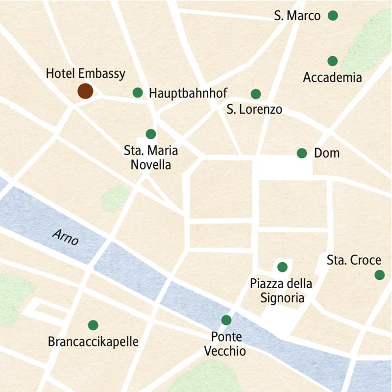 Unsere siebentägige klassische Studienreise nach Florenz bringt Ihnen die Stadt auf den Spuren der Medici näher. In die wichtigsten Museen gelangen wir ohne Warteschlangen, übernachtet wird in einem ehemaligen Palazzo.