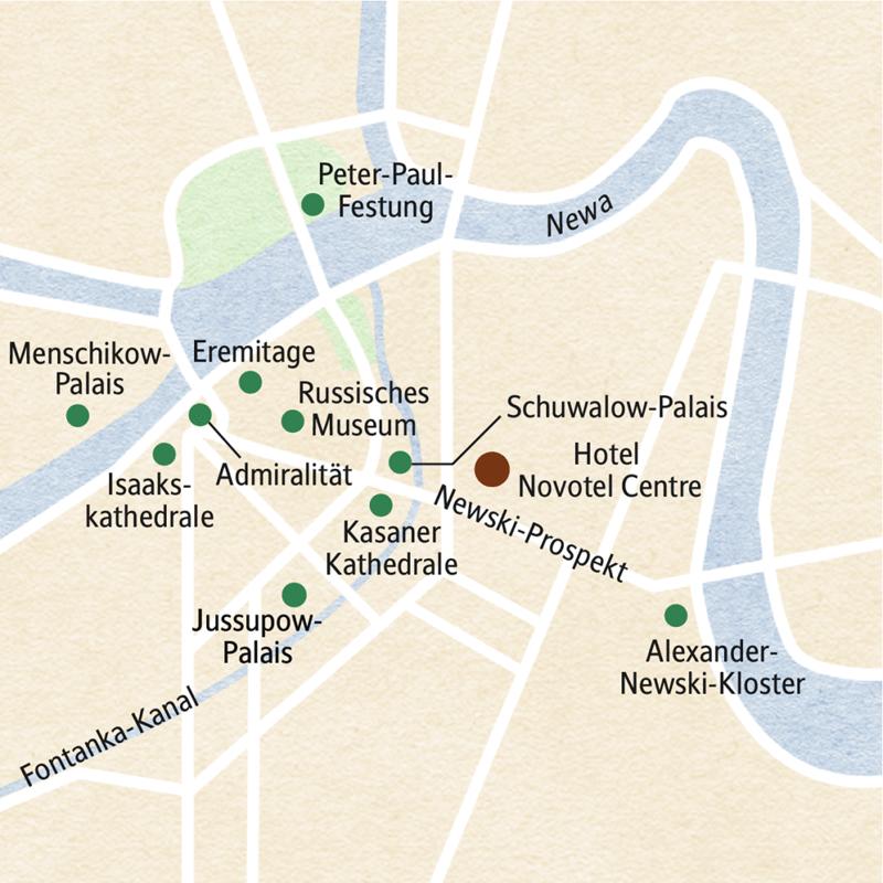 Eine achttägige klassische Studienreise nach St. Petersburg, die ein maximales Kulturerlebnis bietet: barocke Pracht in Peterhof, das farbenprächtige Alexander-Newski-Kloster, das Gold der Skythen in der Eremitage und das legendäre Bernsteinzimmer.